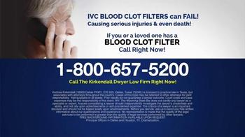 Kirkendall Dwyer LLP TV Spot, 'Blood Clot Filters' - Thumbnail 8