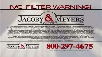 Jacoby & Meyers TV Spot, 'IVC Filter Warning' - Thumbnail 7