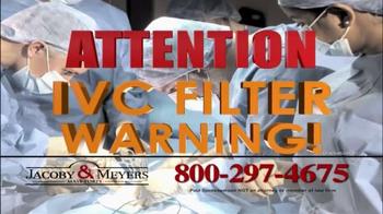 Jacoby & Meyers TV Spot, 'IVC Filter Warning' - Thumbnail 3