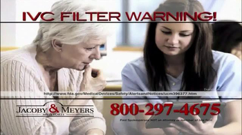 Jacoby & Meyers TV Spot, 'IVC Filter Warning' - Thumbnail 5
