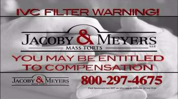 Jacoby & Meyers TV Spot, 'IVC Filter Warning' - Thumbnail 6