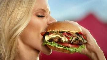 Carl's Jr. Tex Mex Bacon Thickburger TV Spot, 'Borderball' Feat. Elle Evans - Thumbnail 2