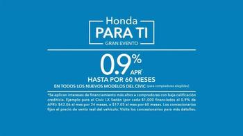 2015 Honda Civic El Gran Evento Para Ti TV Spot, 'Mejor compra' [Spanish] - Thumbnail 8