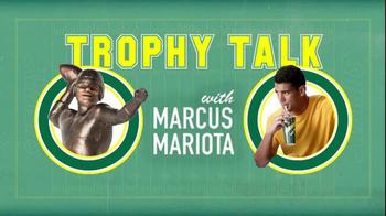 Subway TV Spot, 'Trophy Talk: Spiral' Featuring Marcus Mariota - Thumbnail 1