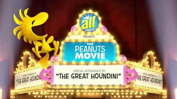 All Laundry Detergent TV Spot, 'The Peanuts Movie: Great Houndini' - Thumbnail 1