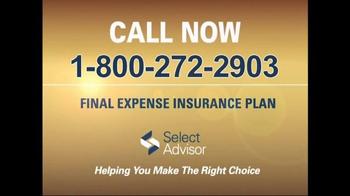 Select Advisor Final Expense Insurance Plan TV Spot, 'Options' - Thumbnail 9