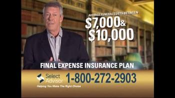 Select Advisor Final Expense Insurance Plan TV Spot, 'Options' - Thumbnail 2