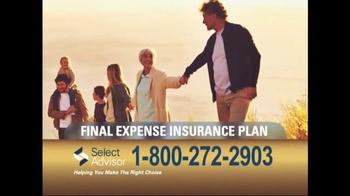 Select Advisor Final Expense Insurance Plan TV Spot, 'Options' - Thumbnail 3