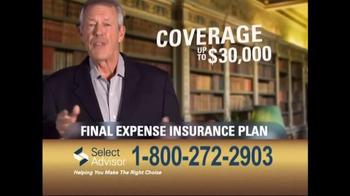 Select Advisor Final Expense Insurance Plan TV Spot, 'Options' - Thumbnail 5