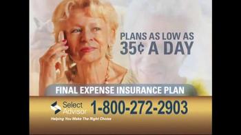 Select Advisor Final Expense Insurance Plan TV Spot, 'Options' - Thumbnail 7