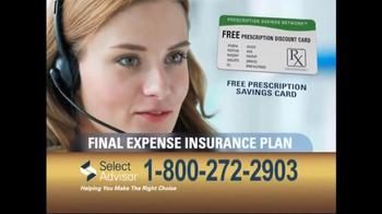 Select Advisor Final Expense Insurance Plan TV Spot, 'Options' - Thumbnail 8