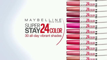 Maybelline New York SuperStay 24 Color TV Spot, 'Mirror Check' - Thumbnail 8
