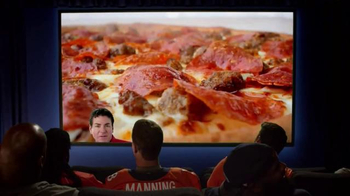 Papa John's Monster Toppings Pizza TV Spot, 'Film Room' Ft. Peyton Manning - 3554 commercial airings