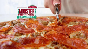 Papa John's Monster Toppings Pizza TV Spot, 'Film Room' Ft. Peyton Manning - Thumbnail 5