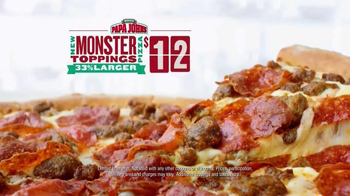Papa John's Monster Toppings Pizza TV Spot, 'Film Room' Ft. Peyton Manning - Thumbnail 6
