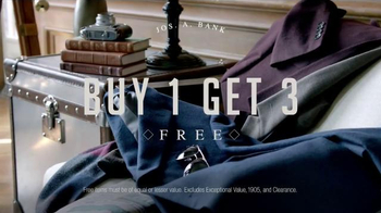 JoS. A. Bank TV Spot, 'Buy One, Get Three Free' - Thumbnail 5