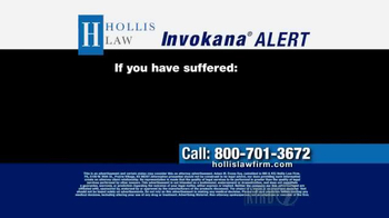 The Hollis Law Firm TV Spot, 'Invokana Alert' - Thumbnail 1