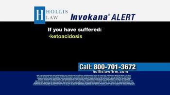 The Hollis Law Firm TV Spot, 'Invokana Alert' - Thumbnail 2