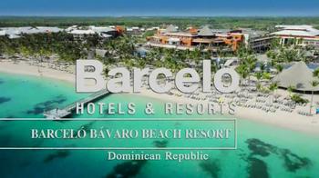 Barceló Bávaro Beach Resort TV Spot, 'Dominican Republic' - Thumbnail 1