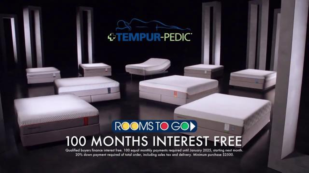 Rooms to Go TV Commercial, \'3,000 Nights of Tempur-Pedic\' - iSpot.tv