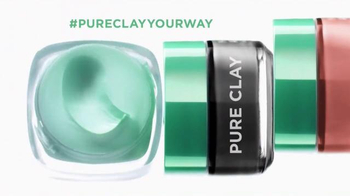 L'Oreal Paris Pure-Clay Masks TV Spot, 'Transform Oily, Dull, Rough Skin' - Thumbnail 9