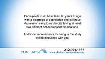 CliniLabs TV Spot, 'Depression Research Study' - Thumbnail 5