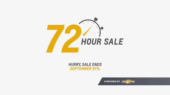 Chevrolet 72 Hour Sale TV Spot, 'Most Awarded' - Thumbnail 8