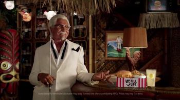 KFC $5 Fill Up: Chicken Littles TV Spot, 'Karaoke' Feat. George Hamilton - Thumbnail 7