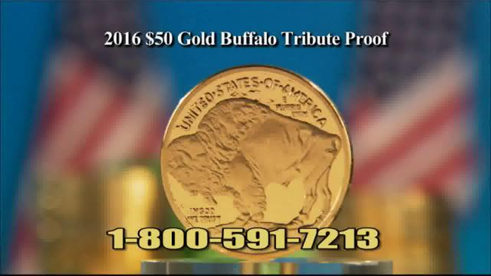 National Collector's Mint 2016 Gold Buffalo Tribute Proof TV Commercial, 'Dollar'