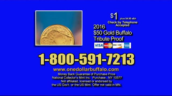 National Collector's Mint 2016 Gold Buffalo Tribute Proof TV Spot, 'Dollar' - Thumbnail 10