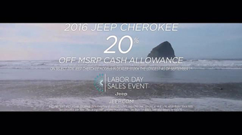 Jeep Labor Day Sales Event TV Spot, 'Cherokee Cash Allowance'