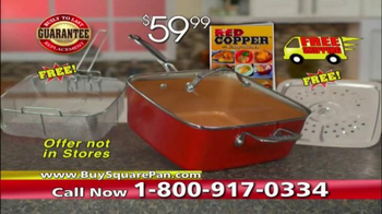 Red Copper Square Pan TV Spot, 'Skillet, Fryer and More' - Thumbnail 7