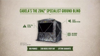 Cabela's The Zonz Specialist Ground Blind TV Spot, 'The Perfect Window' - Thumbnail 4