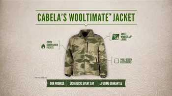 Cabela's Wooltimate Jacket TV Spot, 'Every Day Value: Warm and Stealthy' - Thumbnail 6