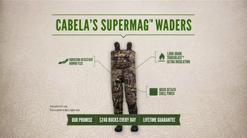 Cabela's SuperMag Chest Waders TV Spot, 'Every Day Value Products: Swamped' - Thumbnail 4
