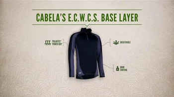 Cabela's E.C.W.C.S. Base Layer TV Spot, 'Every Day Value: No Sweat' - Thumbnail 7