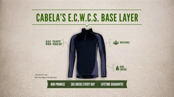 Cabela's E.C.W.C.S. Base Layer TV Spot, 'Every Day Value: No Sweat' - Thumbnail 8