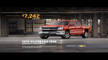 Chevrolet Bonus Tag TV Spot, '2016 Silverado: Truck Bed Test' - 42 commercial airings