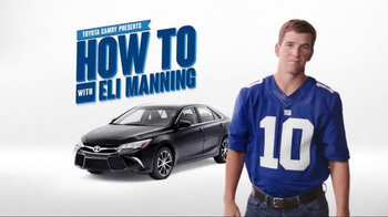 2017 Toyota Camry TV Spot, 'How to With Eli Manning: Wireless Charging' - Thumbnail 7
