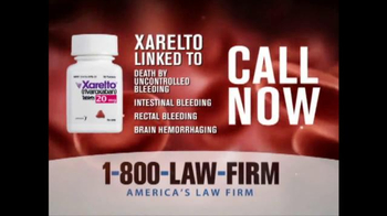 1-800-LAW-FIRM TV Spot, 'Xarelto' - Thumbnail 3