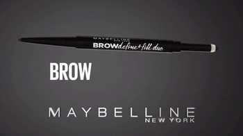 Maybelline New York Brow Define + Fill Duo TV Spot, 'Brows That Wow' - Thumbnail 9