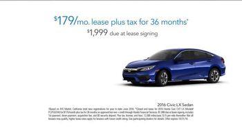 2016 Honda Civic LX TV Spot, 'Los Angeles Rams' - Thumbnail 6