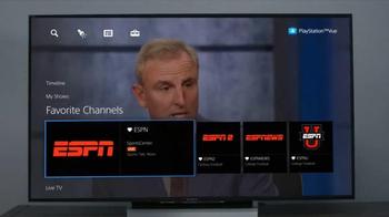 PlayStation Vue TV Spot, 'Football Season' Featuring Desmond Howard - Thumbnail 8