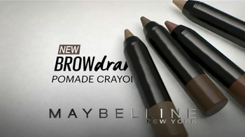 Maybelline New York Brow Drama Pomade Crayon TV Spot, 'One Sweep' - Thumbnail 3
