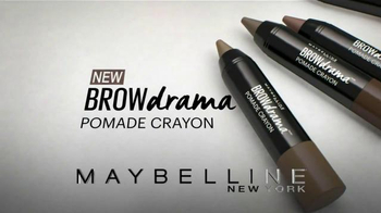 Maybelline New York Brow Drama Pomade Crayon TV Spot, 'One Sweep' - Thumbnail 8