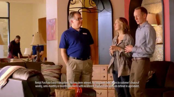 Rent-A-Center Presidents Day Freedom of Choice Sale TV Spot, 'Ashley Sofas' - Thumbnail 1