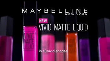Maybelline New York Vivid Matte Liquid TV Spot, 'Colorful' Ft. Gigi Hadid - Thumbnail 9