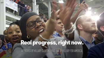 Hillary for America TV Spot, 'Real Progress Now'