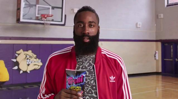 Trolli Sour Brite Crawlers TV Spot, 'Inside James Harden's Head' - Thumbnail 1