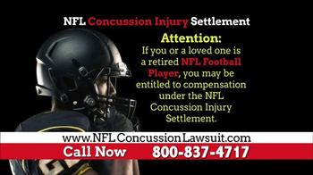 NFL Concussion Lawsuit TV Spot, 'NFL Football Player Compensation' - Thumbnail 1